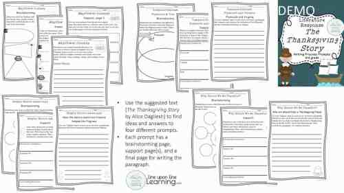 small resolution of Thanksgiving Writing Prompts for 3rd grade – Line upon Line Learning