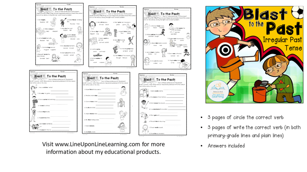 medium resolution of Irregular Past Tense Verbs Printables for 2nd Grade – Line upon Line  Learning