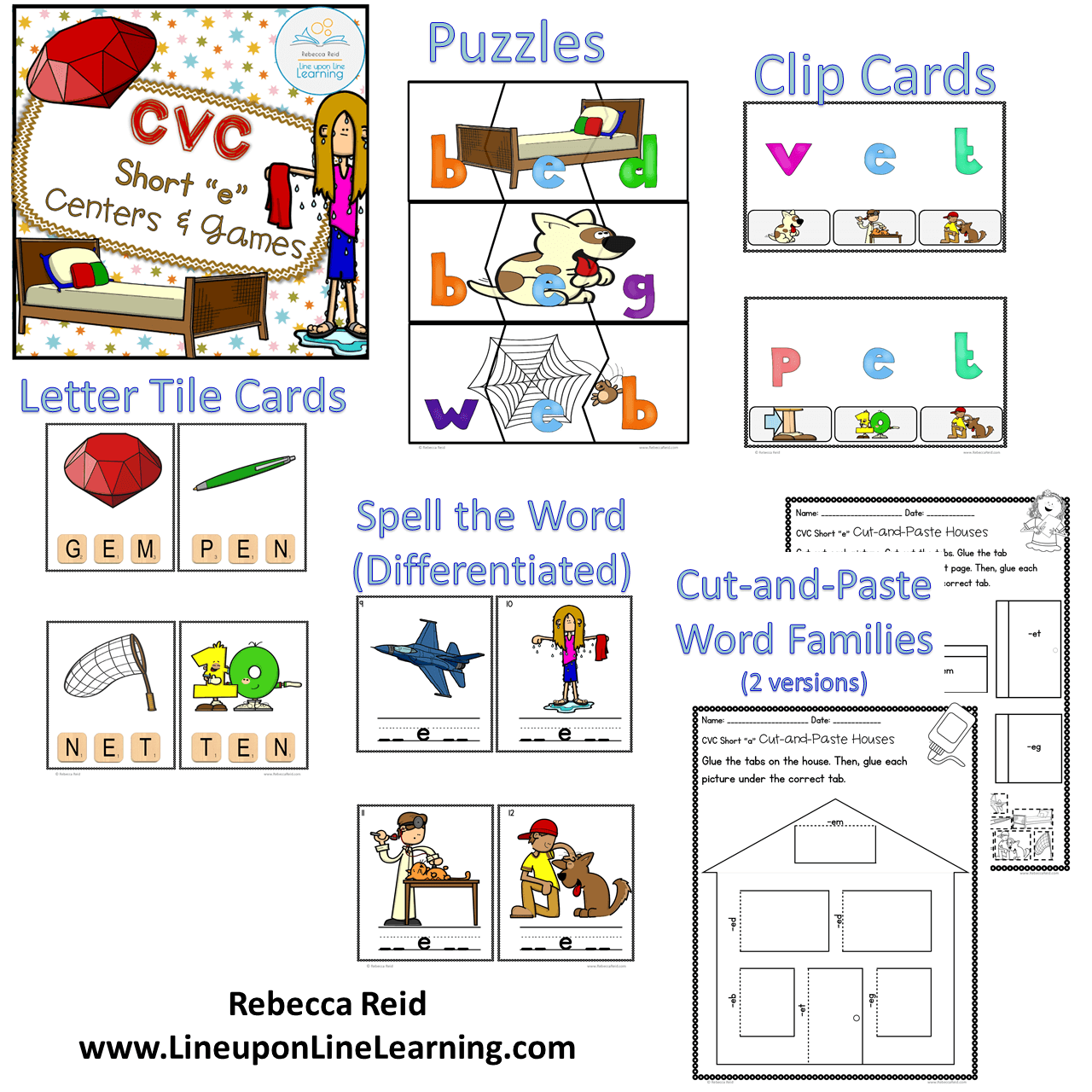 Cvc Short E Centers And Games Line Upon Line Learning