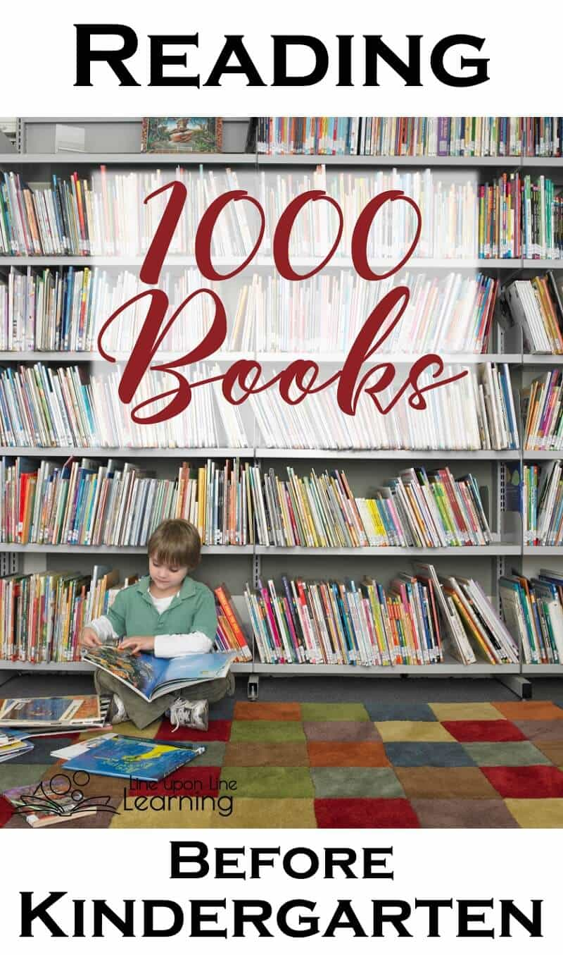 """It may sound overwhelming to read 1000 books before kindergarten, but it becomes a lot of fun and you will be amazed by how """"literate"""" your children will be! Give them a head start and read aloud every day."""