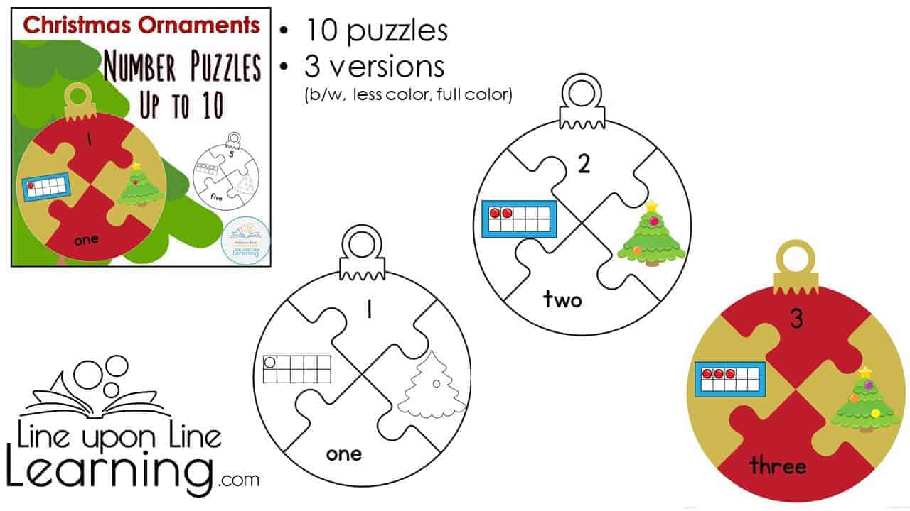 christmas ornament number puzzles DEMO