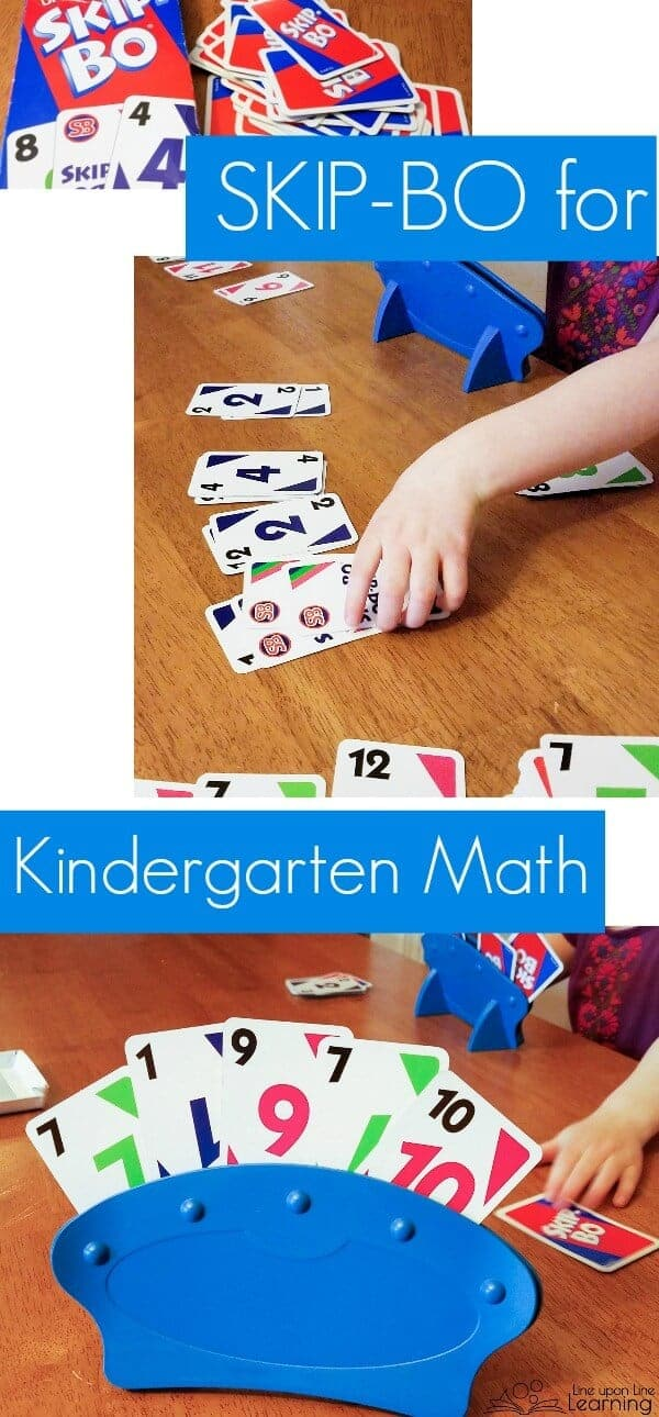 Playing kindergarten math games like SkipBo helps kids learn math concepts in a fun and engaging way.