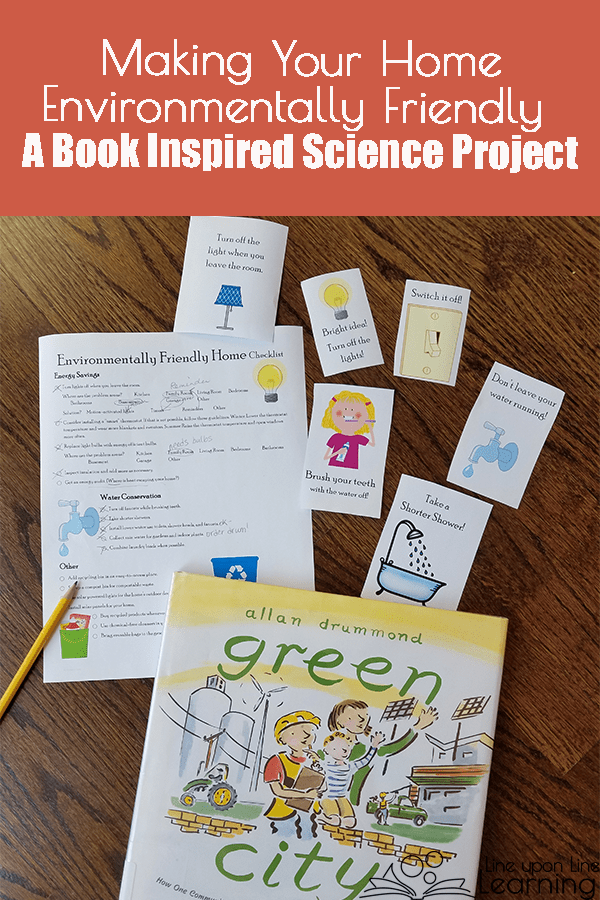 We were inspired by the picture book Green City to make our home more environmentally friendly! See the free checklist on this post to do the same in your home.