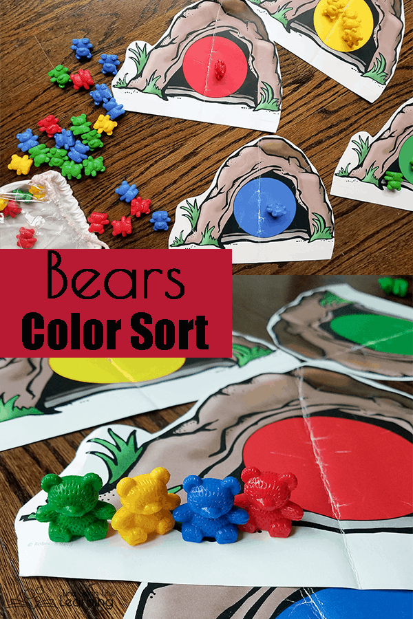 Practice sorting rainbow bears into their own caves. A nice addition to a forest animals unit.