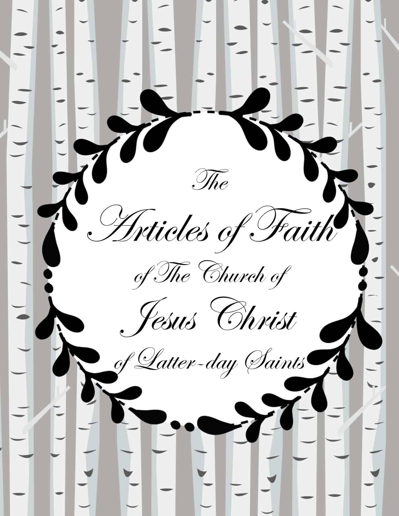 Articles Of Faith Posters And Copywork Line Upon Line