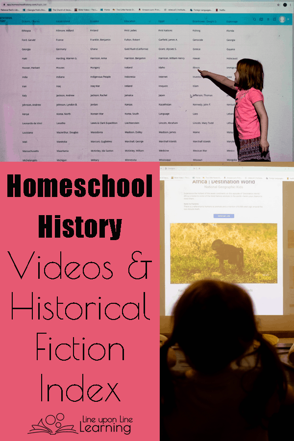 Find creative homeschool history videos, quality historical fiction, and even historical sites with a membership to the Homeschool History website.