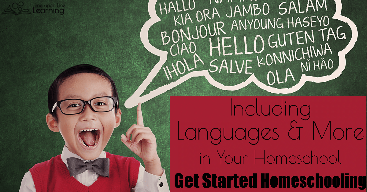 Even if it is not requried, you may want to teach your children a foreign langauge in your homeschool. Here is how you can!