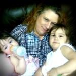 Gena with her babies