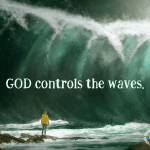 God controls the waves.