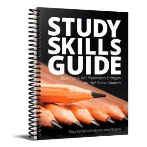 Study Skills Guide for homeschool high school students