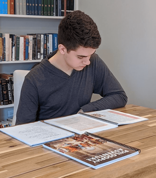 Young man studying Philosophy Adventure