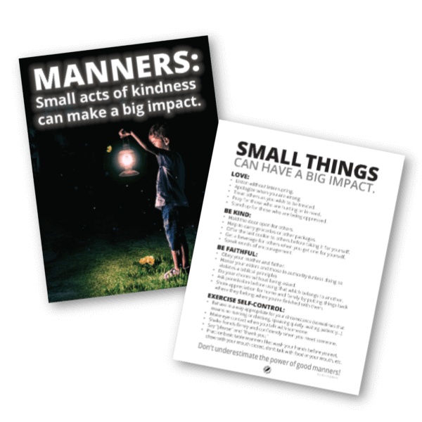 Good Manners List and Poster