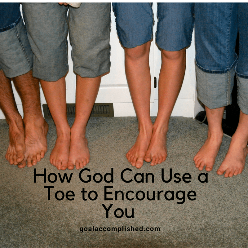 Four sets of teenage feet! These feet all look different and God can use all kinds of things to encourage you. Read on for more