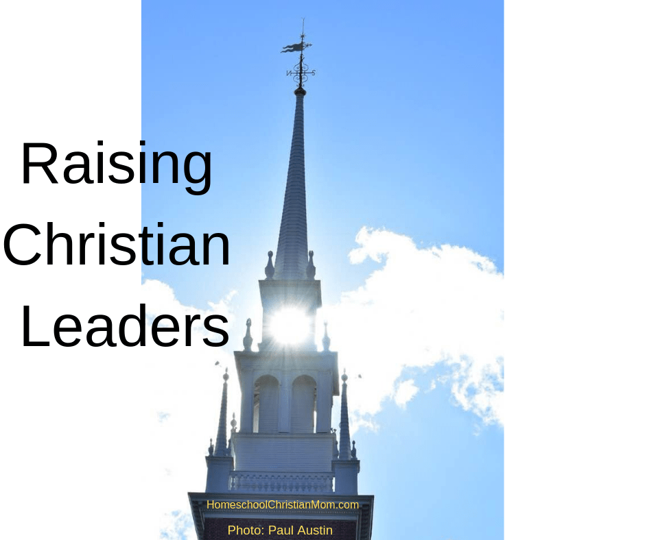 Raising Children: 5 Tips to Help Parents. Image shows an ornate church steeple with the sun coming through the bell tower with a light blue sky in the background.
