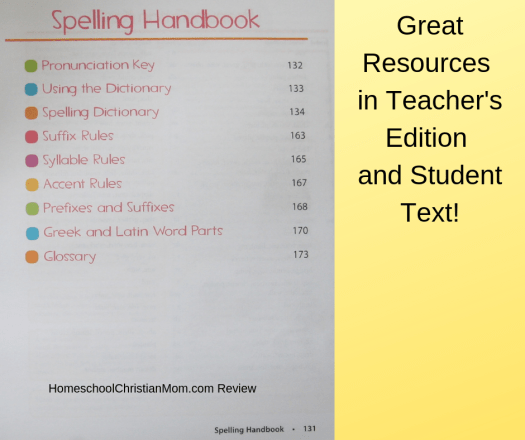 6th grade Spelling Curriculum includes great resources in both the student text and teacher's edition.
