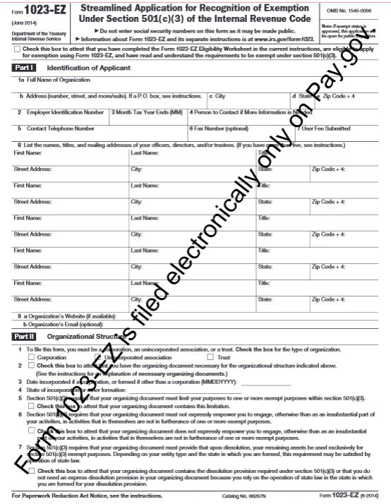 New Irs Form Ez Make Applying For Tax Exempt Status Easier