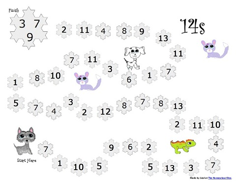 Math Worksheets, Game Boards, Lapbook and more (All Free