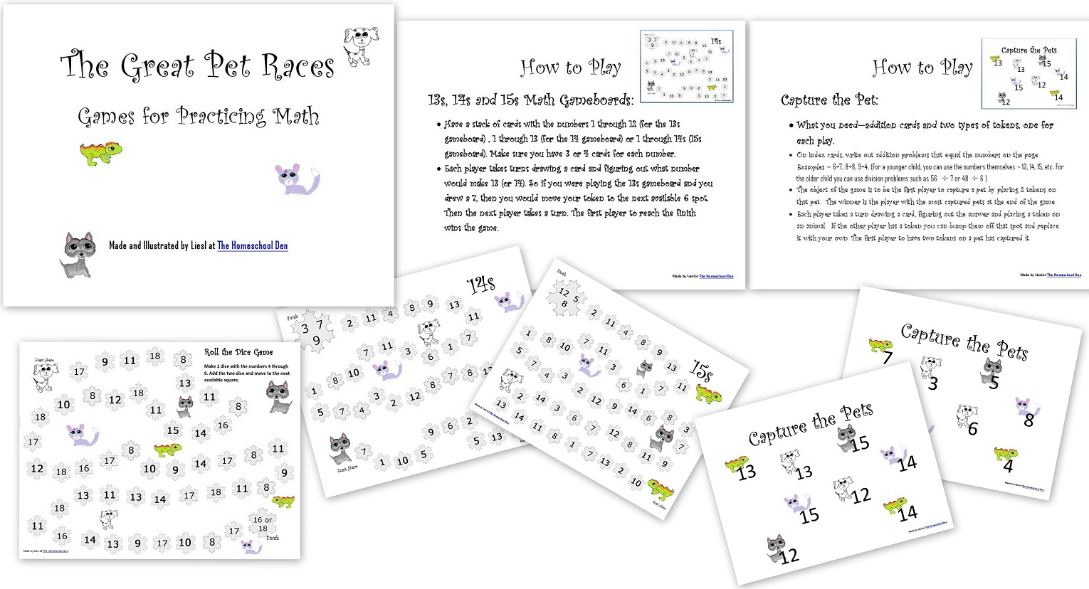 Math Worksheets Game Boards Lapbook And More All Free