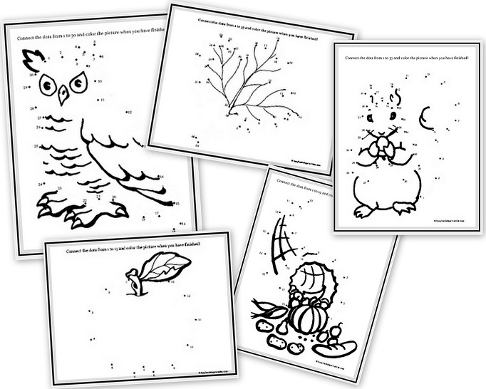 Fall and Thanksgiving Themed Printable Activities (Free