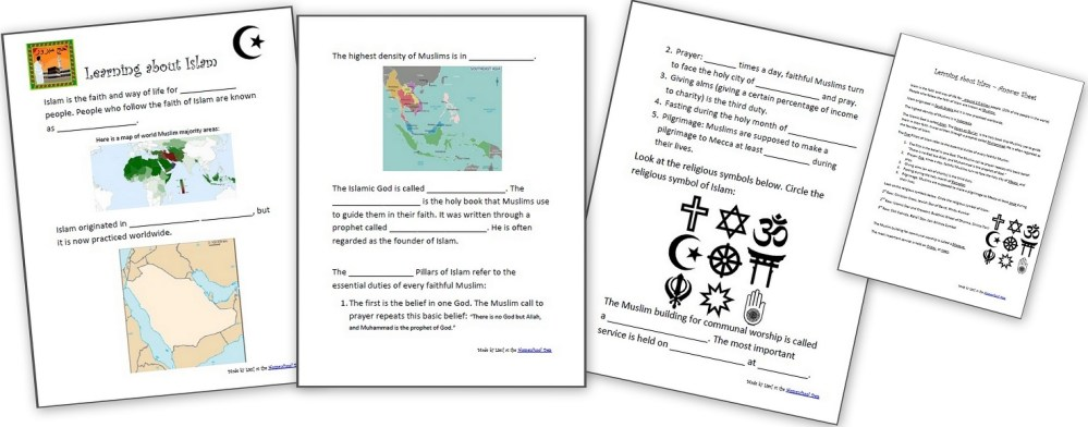 medium resolution of Learning About Islam - Free Worksheets and Resources for Kids - Homeschool  Den