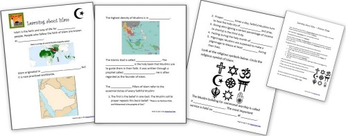 small resolution of Learning About Islam - Free Worksheets and Resources for Kids - Homeschool  Den