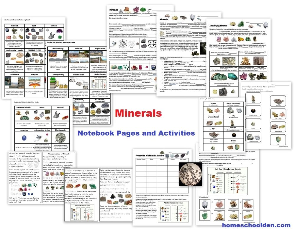 medium resolution of Free Rocks and Minerals Packet (25 pages) - Homeschool Den