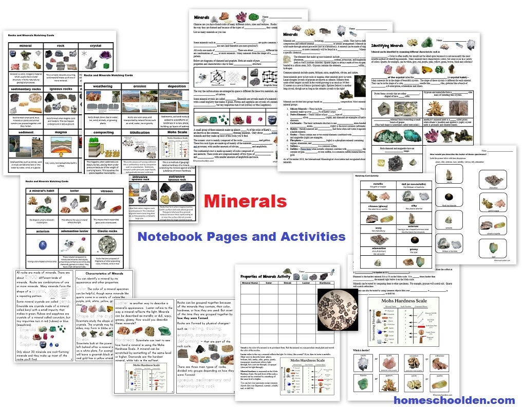 hight resolution of Free Rocks and Minerals Packet (25 pages) - Homeschool Den