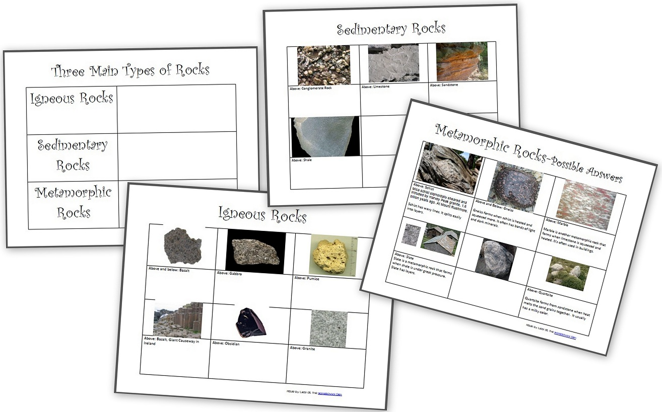 hight resolution of The Three Types of Rocks- Our Activities and a Free Worksheet Packet about  igneous