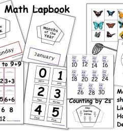 Free Math Lapbook (PreK [ 814 x 1182 Pixel ]