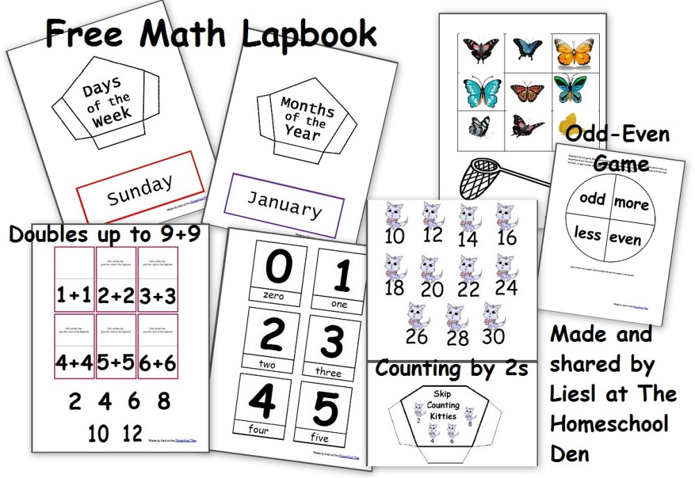 medium resolution of Free Math Lapbook (PreK