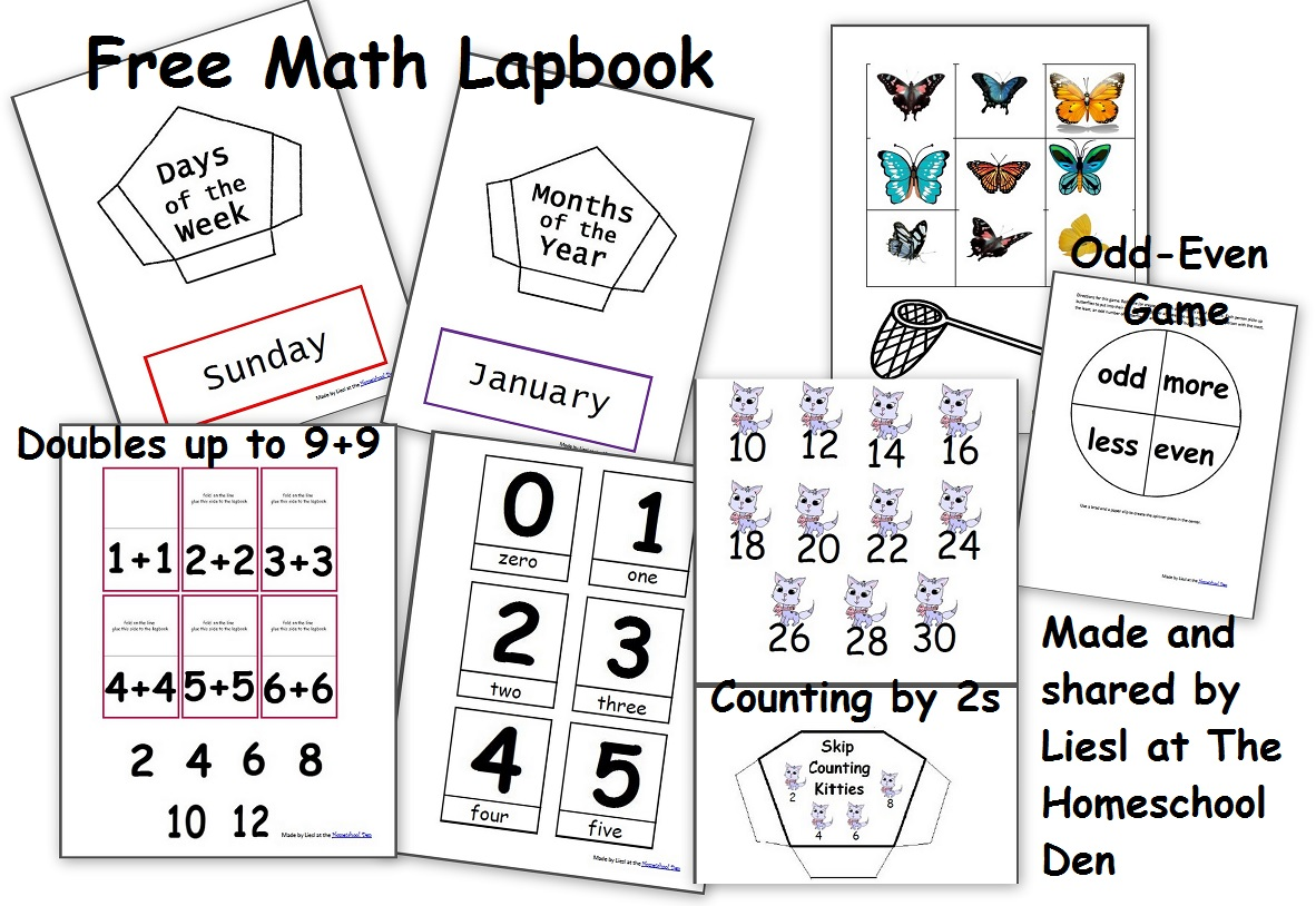 hight resolution of Free Math Lapbook (PreK