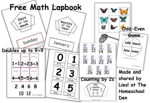 small resolution of Free Math Lapbook (PreK