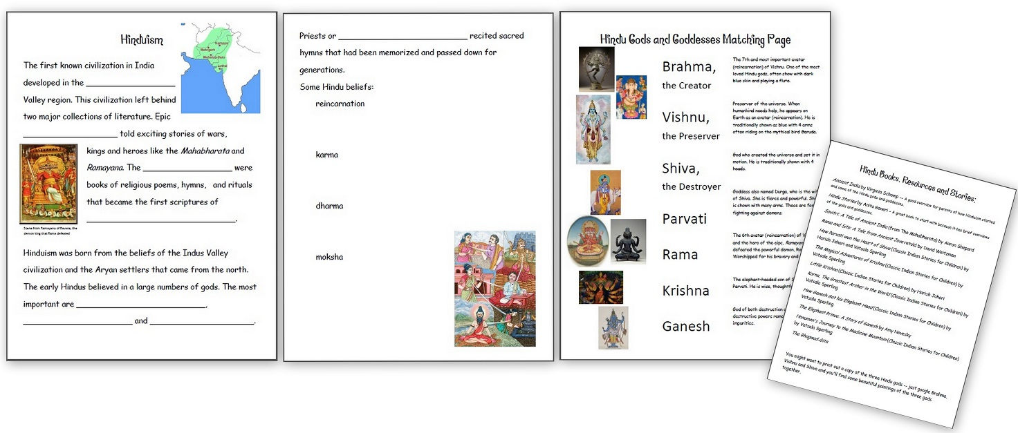 hight resolution of Learning about Hinduism - Hindu Gods and Goddesses - Homeschool Den