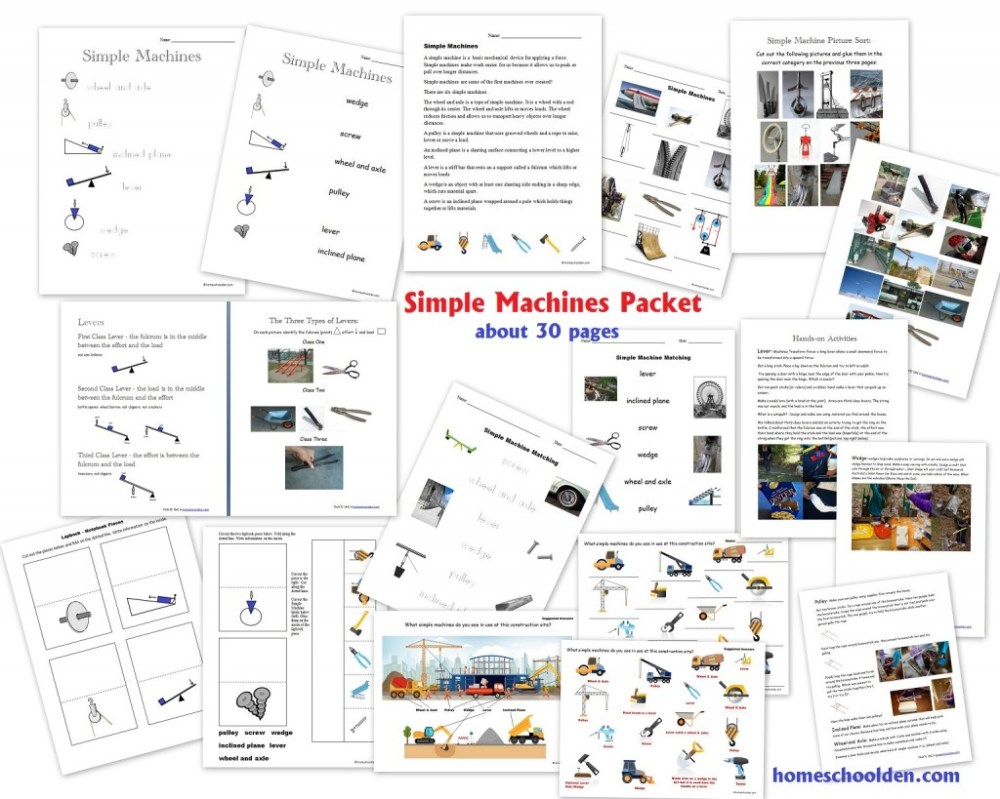 medium resolution of Simple Machines Packet (About 30 pages) - Homeschool Den