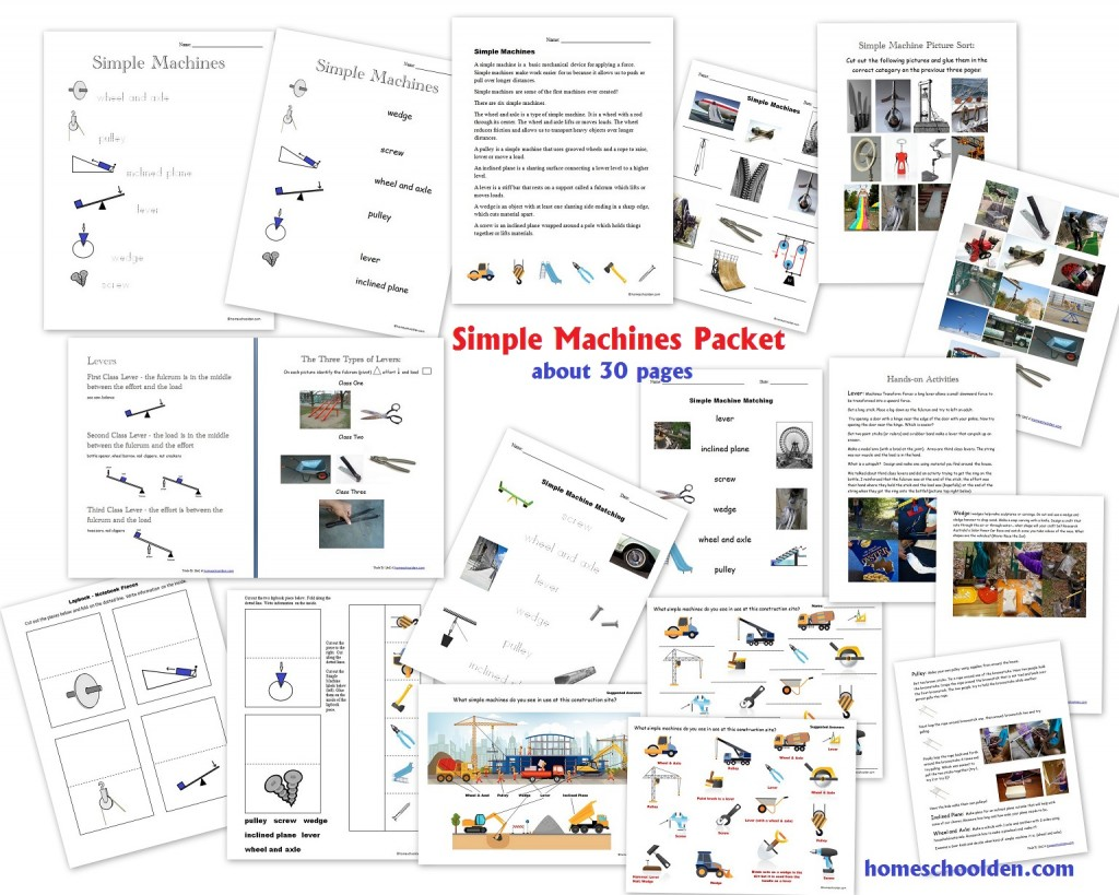 hight resolution of Simple Machines Packet (About 30 pages) - Homeschool Den