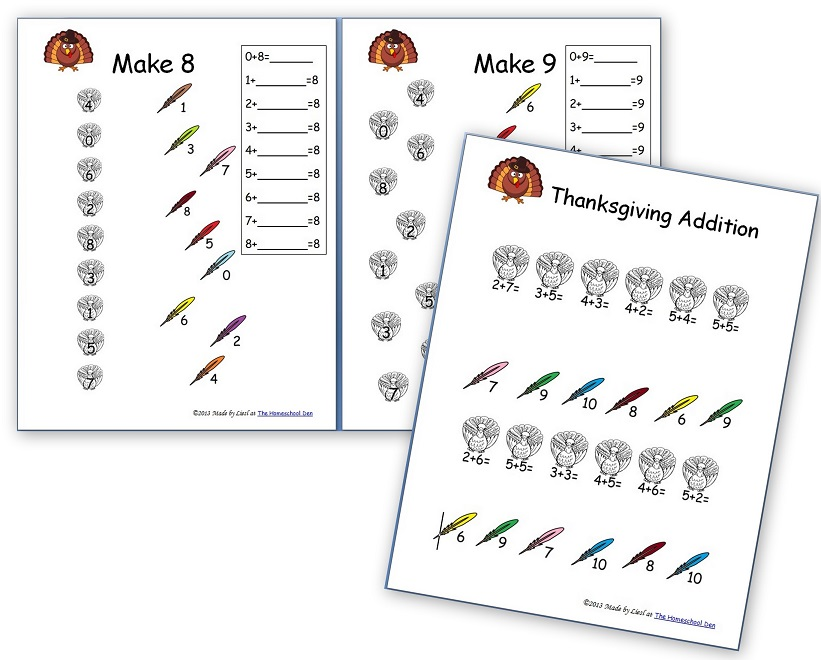 Thanksgiving Skip Counting Mazes 2s, 3s, 5s (Free