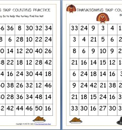 Thanksgiving Skip Counting Mazes 2s [ 807 x 1262 Pixel ]