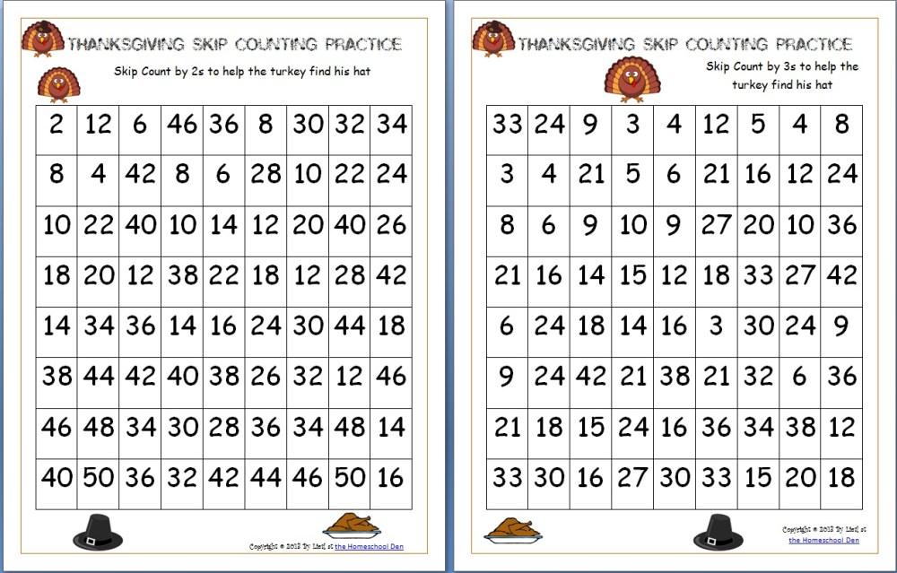 medium resolution of free Thanksgiving math worksheets Archives - Homeschool Den
