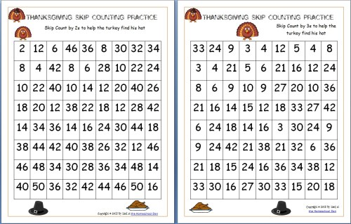 small resolution of Thanksgiving Skip Counting Mazes 2s