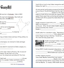 Gandhi (Free Worksheets/Notebook Pages) - Homeschool Den [ 813 x 1264 Pixel ]