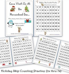Free Holiday Skip Counting Pages (2s thru 7s) - Homeschool Den [ 772 x 1024 Pixel ]