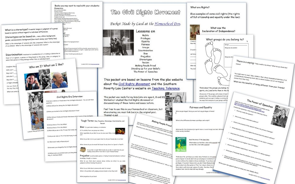 medium resolution of Key Events of the Civil Rights Movement (Free Packet) - Homeschool Den