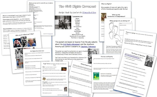 small resolution of Key Events of the Civil Rights Movement (Free Packet) - Homeschool Den