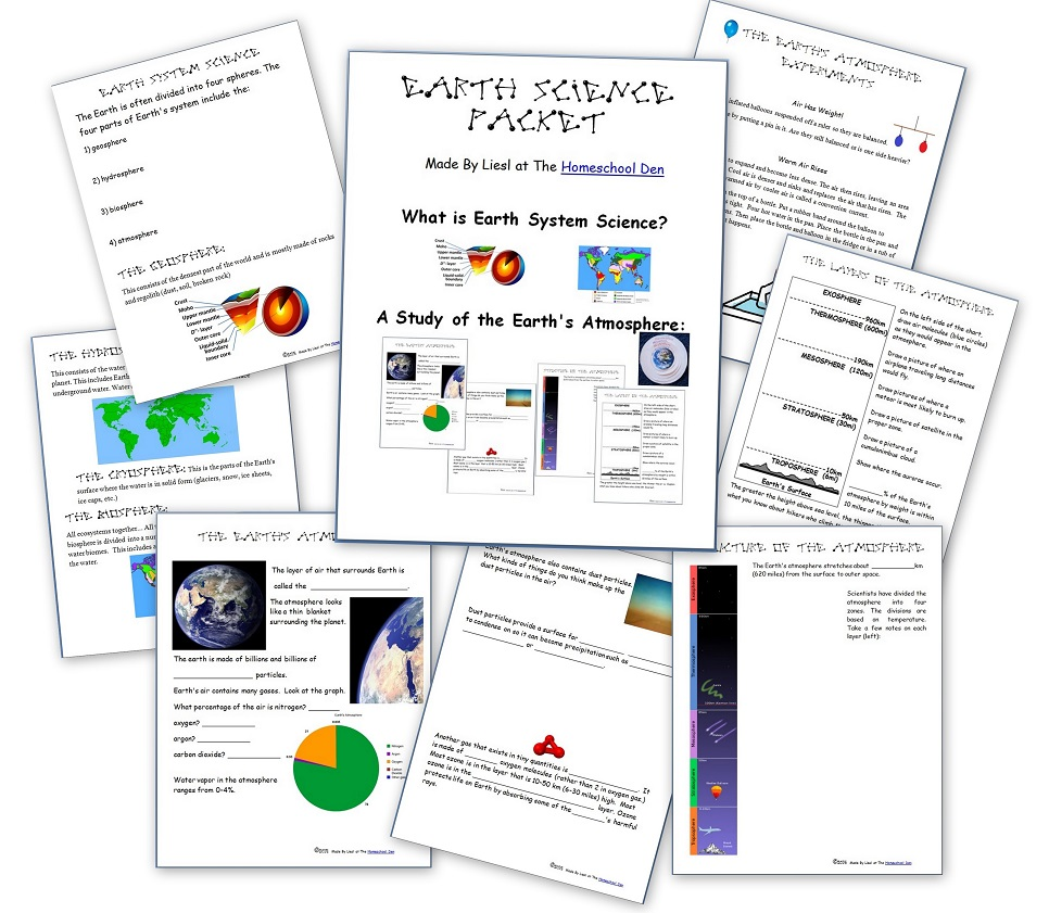 medium resolution of Earth Science Packet: Earth's Atmosphere (Now Updated!) - Homeschool Den