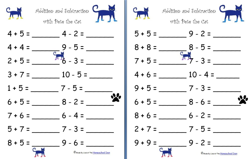 medium resolution of Free Addition And Subtraction Worksheets For Grade 1