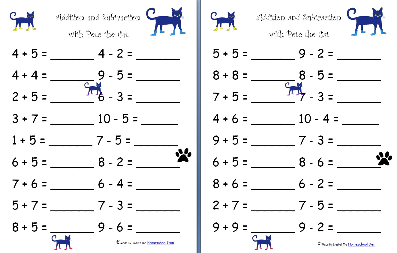hight resolution of Free Addition And Subtraction Worksheets For Grade 1