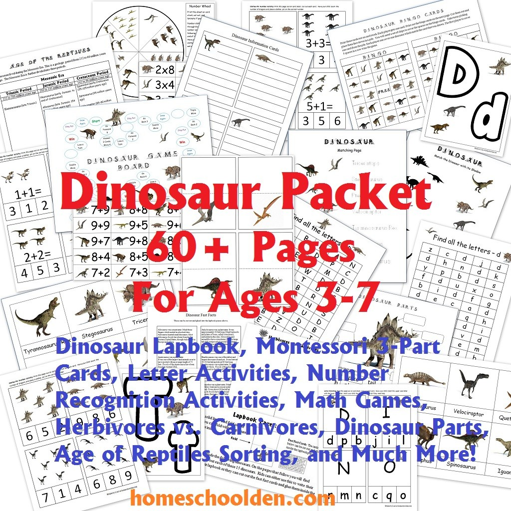hight resolution of Dinosaur Packet for 3-7 Year Olds - Dinosaur Lapbook