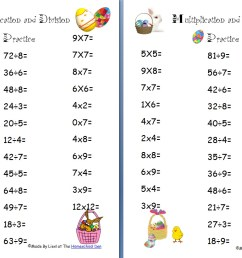 Free Easter Multiplication and Division Worksheets - Homeschool Den [ 835 x 1299 Pixel ]