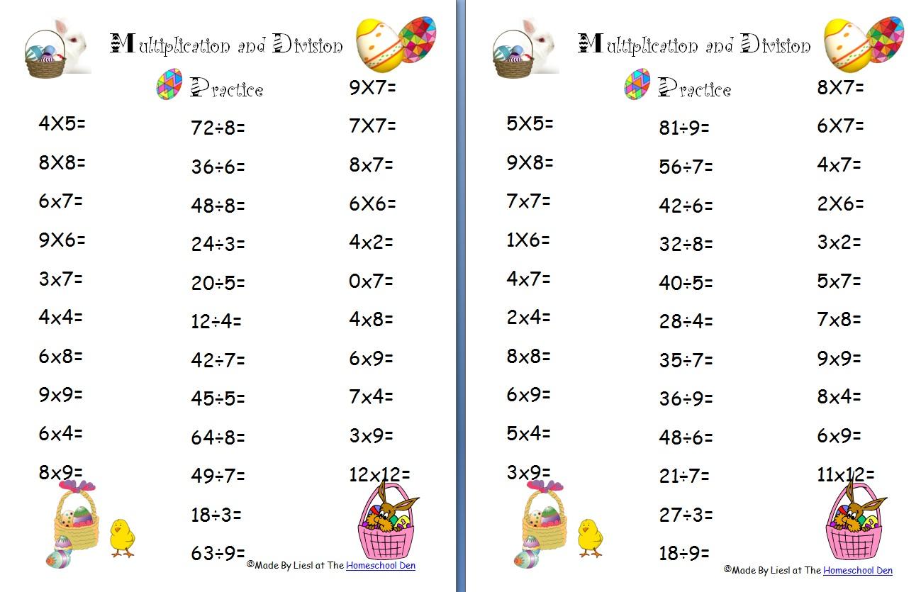 hight resolution of free Easter division worksheet Archives - Homeschool Den