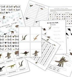 Dinosaur Packet for 3-7 Year Olds - Homeschool Den [ 796 x 1024 Pixel ]